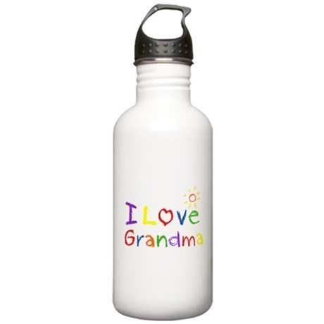 I Love Grandma Stainless Water Bottle 1.0L