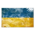 Ukraine Flag Sticker (Rectangle 50 pk)