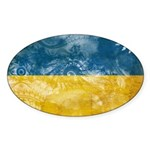 Ukraine Flag Sticker (Oval)
