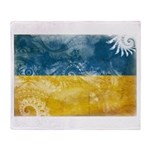 Ukraine Flag Throw Blanket