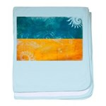Ukraine Flag baby blanket