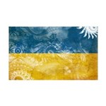 Ukraine Flag 38.5 x 24.5 Wall Peel