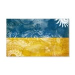Ukraine Flag 22x14 Wall Peel