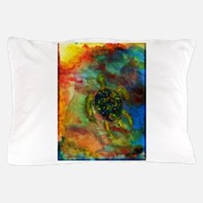 Green Turtle Pillow Case