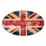 United Kingdom Flag Sticker (Oval 50 pk)