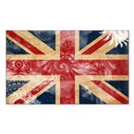 United Kingdom Flag Sticker (Rectangle)