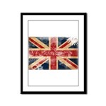 United Kingdom Flag Framed Panel Print