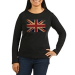 United Kingdom Flag Women's Long Sleeve Dark T-Shi