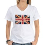 United Kingdom Flag Women's V-Neck T-Shirt