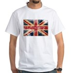 United Kingdom Flag White T-Shirt