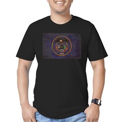 Utah Flag Men's Fitted T-Shirt (dark)