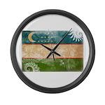 Uzbekistan Flag Large Wall Clock