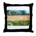 Uzbekistan Flag Throw Pillow