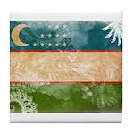 Uzbekistan Flag Tile Coaster