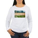 Uzbekistan Flag Women's Long Sleeve T-Shirt