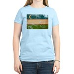 Uzbekistan Flag Women's Light T-Shirt