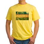 Uzbekistan Flag Yellow T-Shirt