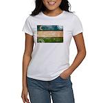 Uzbekistan Flag Women's T-Shirt