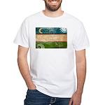 Uzbekistan Flag White T-Shirt