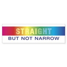 Straight Bumper Bumper Sticker