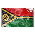 Vanuatu Flag Sticker (Rectangle 10 pk)