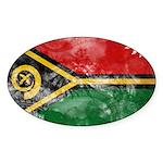 Vanuatu Flag Sticker (Oval 10 pk)