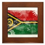 Vanuatu Flag Framed Tile
