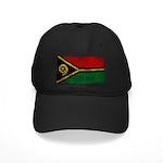 Vanuatu Flag Black Cap