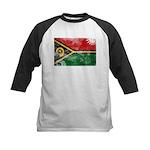 Vanuatu Flag Kids Baseball Jersey