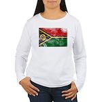 Vanuatu Flag Women's Long Sleeve T-Shirt