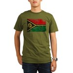 Vanuatu Flag Organic Men's T-Shirt (dark)