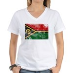 Vanuatu Flag Women's V-Neck T-Shirt