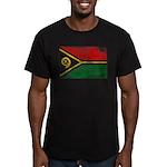 Vanuatu Flag Men's Fitted T-Shirt (dark)