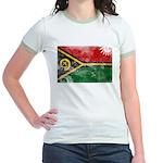 Vanuatu Flag Jr. Ringer T-Shirt