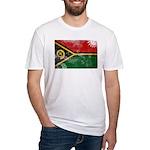 Vanuatu Flag Fitted T-Shirt