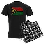 Vanuatu Flag Men's Dark Pajamas