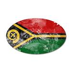Vanuatu Flag 38.5 x 24.5 Oval Wall Peel