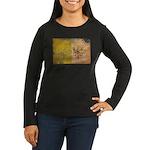 Vatican City Flag Women's Long Sleeve Dark T-Shirt