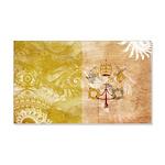 Vatican City Flag 22x14 Wall Peel