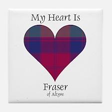 Heart - Fraser of Altyre Tile Coaster