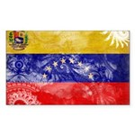 Venezuela Flag Sticker (Rectangle 50 pk)