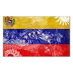 Venezuela Flag Sticker (Rectangle 10 pk)