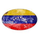 Venezuela Flag Sticker (Oval 50 pk)