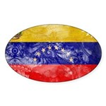 Venezuela Flag Sticker (Oval 10 pk)