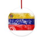 Venezuela Flag Ornament (Round)