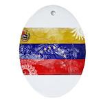 Venezuela Flag Ornament (Oval)