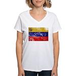 Venezuela Flag Women's V-Neck T-Shirt
