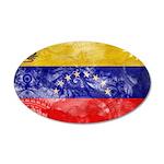 Venezuela Flag 38.5 x 24.5 Oval Wall Peel