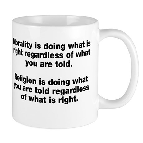 Morality Versus Religion Mug