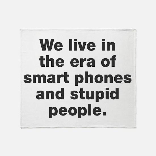 Phones and People Throw Blanket
